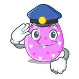 Клиппирование мультфильма пасхального яйца полиции на пути иллюстрация штока