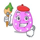 Клиппирование мультфильма пасхального яйца художника на пути бесплатная иллюстрация