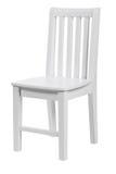 клиппирование стула над деревянным путя белое стоковые изображения rf