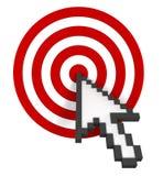 клиппирование цели включает путь Стоковые Изображения RF