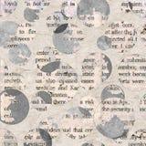 Клиппирования коллажа газеты с смешанным текстом Стоковое Фото