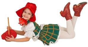 клобук девушки меньший красный riding Стоковая Фотография RF