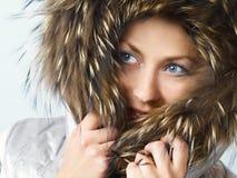 клобук девушки шерсти Стоковое Фото