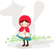 клобук меньший красный riding Стоковые Изображения RF