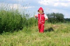клобук меньший красный riding Стоковая Фотография RF