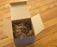 клоки бумаги упаковки коробки открытые Стоковая Фотография RF