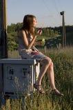 клокочет девушка Стоковая Фотография RF