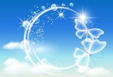 клокочет небо бабочек Стоковые Фото