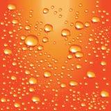 клокочет померанцовая вода вектора Стоковое Изображение