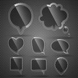 клокочет речь темного стекла Стоковая Фотография RF