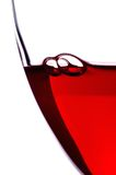 клокочет стеклянное вино стоковое изображение rf