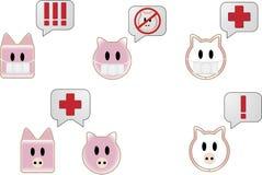 клокочет текст swine гриппа Стоковое Фото
