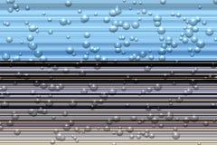 Клокочут линии конспекта черноты голубого серого цвета, абстрактная текстура Стоковая Фотография