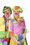 клоуны в пузырях мыла Стоковые Фотографии RF