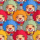 клоуны делают по образцу безшовное Стоковое Изображение