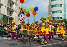 Клоуны масленицы улицы Стоковое фото RF