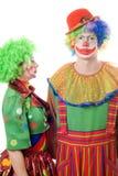клоуны соединяют серьезное стоковое фото rf