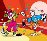 клоуны цирка 2 Стоковая Фотография