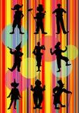 клоуны 9 иллюстрация вектора
