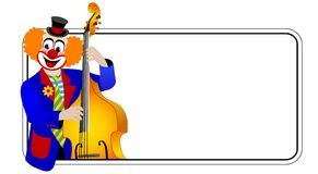 клоун басиста против Стоковая Фотография RF
