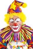 клоун дня рождения делает желание Стоковое фото RF