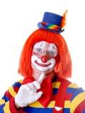 клоун застенчивый Стоковые Изображения
