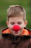 клоун мальчика стоковая фотография rf