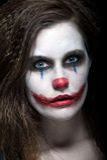 клоун страшный Стоковое Изображение