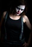 клоун страшный Стоковые Фотографии RF
