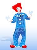 Клоун с красным цветом бесплатная иллюстрация