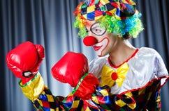 Клоун с перчатками бокса Стоковое Изображение RF