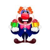 Клоун шаржа красивый Стоковые Изображения RF