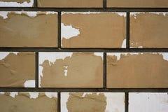 Клочковатая кирпичная стена текстуры Стоковое Фото