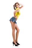 клочковатая сексуальная женщина краткостей стоковые фото