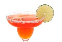 клубника красного цвета маргариты коктеила Стоковое Изображение