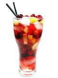 клубника красного цвета пунша плодоовощ питья коктеила Стоковые Изображения RF