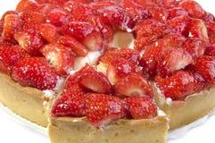 клубника ломтика торта стоковое изображение rf