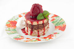 клубника размера торта укуса Стоковое Изображение