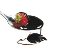 клубника соуса шоколада стоковое изображение rf