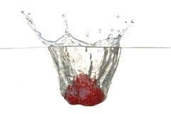 клубника стекла падения Стоковая Фотография RF