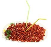 клубника тарелки ягод большая одичалая Стоковая Фотография