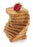 клубника хлеба toasted стоковые изображения rf