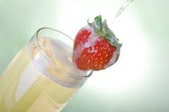 клубника шампанского Стоковая Фотография