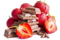 клубника шоколада заполняя Стоковые Изображения