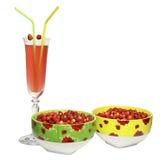 клубника 2 плит ягод круглая одичалая Стоковое фото RF