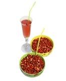 клубника 2 плит ягод круглая одичалая Стоковая Фотография