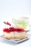 клубника cheesecake Стоковые Изображения RF