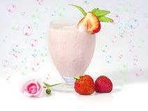 клубника milkshake Стоковая Фотография