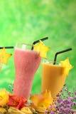 клубника milkshakes мангоа Стоковое Фото