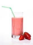 клубника shake молока стоковые изображения